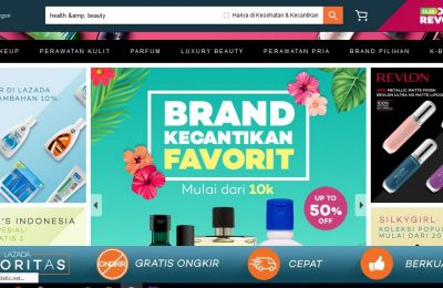 lazada ecommerce is the best for buy health and beauty